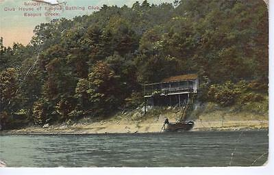 USA - Saugerties, Club House of Esopus Bathing Club, Esopus Creek (Kingston)