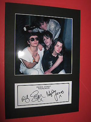 Manic Street Preachers A4 Photo Mount Signed Pre-Printed Richey Edwards Ticket