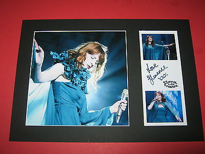 Florence Welch & The Machine A4 Photo Mount Signed Reprint Autograph Lungs