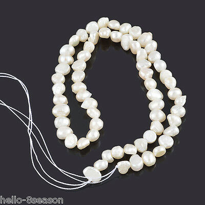 1 Strand(approx 65PCs) Natural Pearl Loose Beads 5x5mm-9x6mm,37cm long