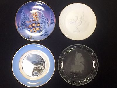 Avon Collector's Christmas Plates Lot Of 4