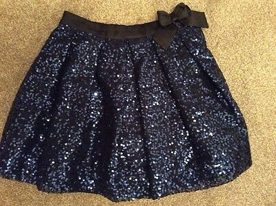 George Girls Blue Sparkley Sequence Skirt with Tulle Age 11-12 Gorgeous!!!