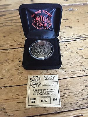 Motley Crue Rare Final Show Limited Ed. Coin Staples Center New Years Eve 2015