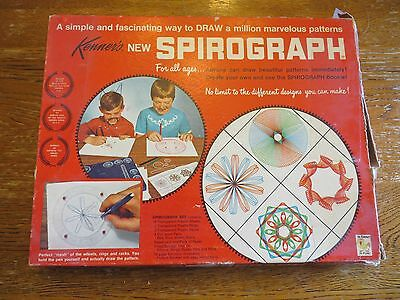 VINTAGE 1967 SPIROGRAPH #401 Creative Drawing Toy Craft Kenner Game