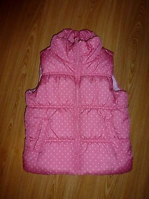 Next Padded Pink Spotty Gilet / Bodywarmer for girl age 5 - 6 years (116cm)