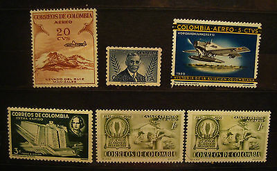 Columbia postage stamps  old Lot 15  MLH