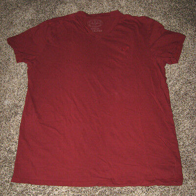 American Eagle Men's Short Sleeve Tee T Shirt Red Maroon Size L Large EUC