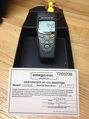 Omega HH66R: 2 Channel Input thermometer Logger