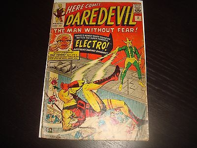 DAREDEVIL #2 Stan Lee Electro  Silver Age Marvel Comcs 1964 Low Grade Fa/+GD-
