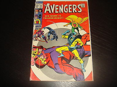 THE AVENGERS #59   Silver Age Marvel Comics 1968 GD Low Grade