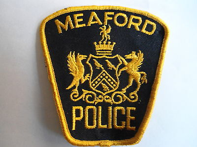 Meaford Police (Gold) Patch, Ontario, Canada, Police Crest