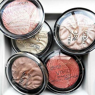 MAKEUP REVOLUTION VIVID BAKED HIGHLIGHTER Strobe Powder Choose 19 Shades VEGAN