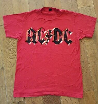AC/DC Shirt, Size Small, Red with photo in logo, nice!