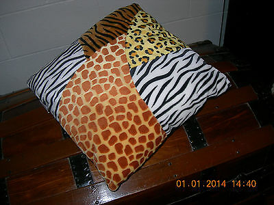 NICI Safari plush square cushion pillow new without tags