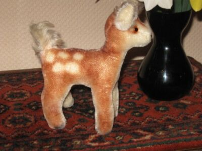 Antique Hermann Germany Standing Mohair Fawn