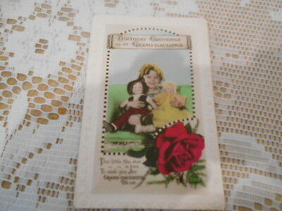 Birthday Greeings Postcard With Shirley Temple
