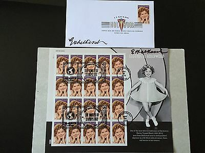 2016 Shirley Temple Stamp World Stamp Show Cancellation DCP Keepsake *Signed*