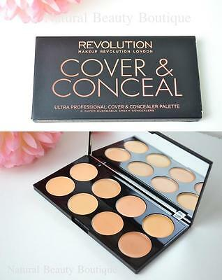 MAKEUP REVOLUTION ULTRA PROFESSIONAL COVER & CONCEAL CONCEALER PALETTE Light/Med