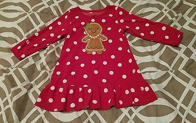 Carter's 2T flannel girl long sleeve Christmas nightgown.
