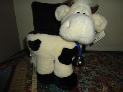 Russ Lil Luvables Plush COW with BELL Kathleen Kelly Critter Factory
