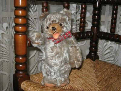 Old Hermann Germany Antique Zotty Bear Mohair Squeaker