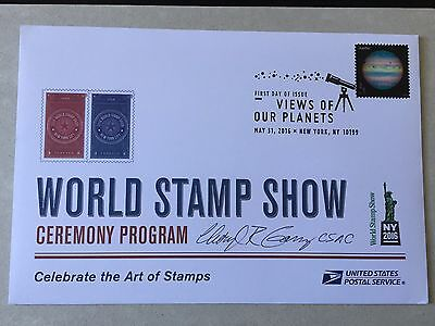 2016 First Day of Issue ceremony program for views of our planets **Signed **