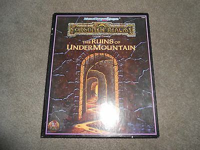 Advanced Dungeons & Dragons Forgotten Realms The Ruins of Undermountain RARE