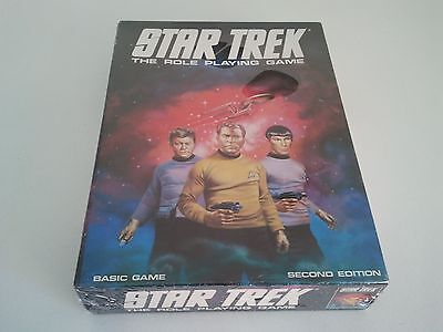 Sealed STAR TREK The Role Playing Game Basic Second Edition Games Workshop 569g