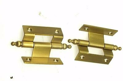 7.5cm Ormolu Hinges For Clock - Mantel Bracket Or Wall Clock Double Crank Hinges