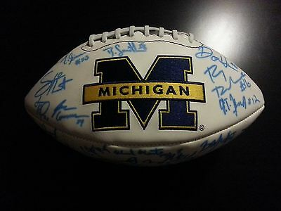 2008 Michigan Wolverines Autograph Auto Football with embroidered Logo