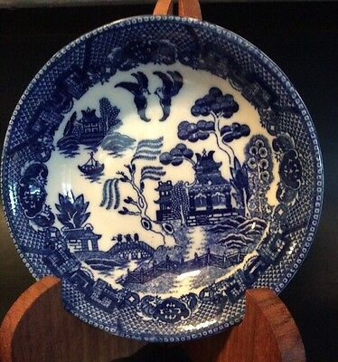 Vintage Blue Willow Desert Bowl<>< Made In Occupied Japan