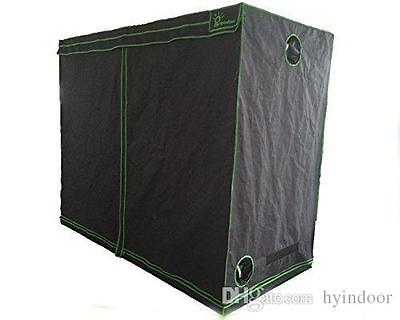 Indoor Hydroponics Greenhouse Grow Tent Room 600D Silver Mylar Kit 120x120x200