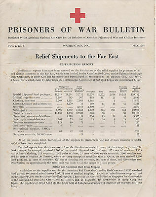 "May 1944 Prisoners Of War Bulletin "" Relief Shipments To The Far East"