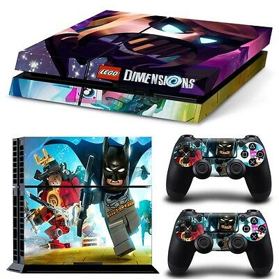 'lego Dimensions'  Decal /skin Set For Ps4 Console + 2 Controllers