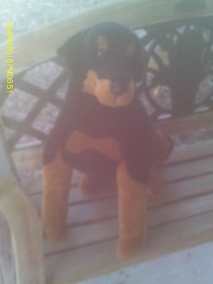 LARGE Realistic Plush Black & Tan Rottweiler Dog- Puppy Life Sized!