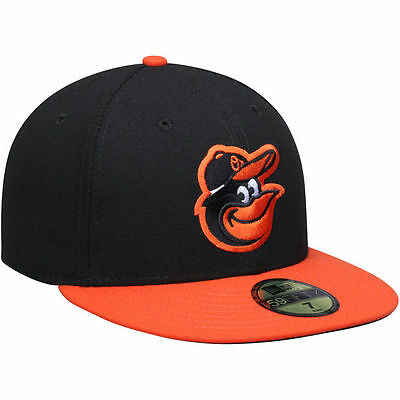 5aee8f784e4 BALTIMORE ORIOLES Road On Field New Era 5950 MLB Fitted Baseball Team Cap
