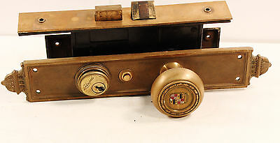 Book Cadillac Hotel (Detroit) Antique Door Knob & Lock Set by Yale, Motor City!