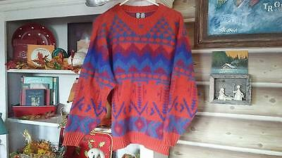 Excellent Men's Vtg ICEWEAR Icelandic Wool SKI/SNOW Sweater Geometric Tribal-M/L