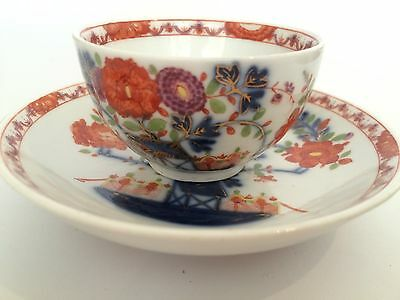 Antique Meissen Hand Painted Tea Bowl and Saucer
