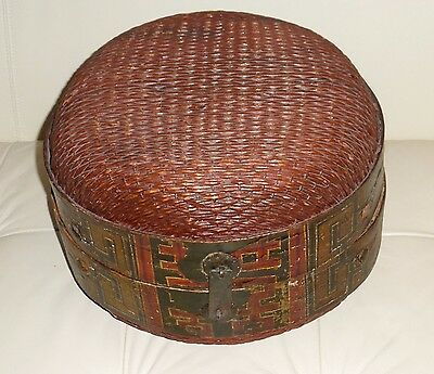 Antique Chinese Fabulous Hand Painted Wedding Basket