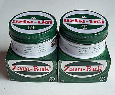 2 x 36g ZAMBUK OINTMENT HERBAL BALM INSECT BITES PAIN RELIEF  RASHES WOUNDS