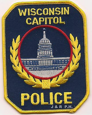 "*NEW*  Wisconsin Capitol Police (3.75"" x 4.75"") shoulder police patch (fire)"