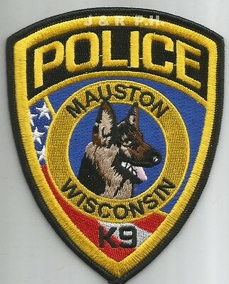 "*NEW*  Mauston  K-9, WI (3.75"" x 4.75"") shoulder police patch (fire)"