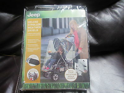 Jeep Deluxe Stroller Weather Shield, Baby Rain Cover, Universal Size,
