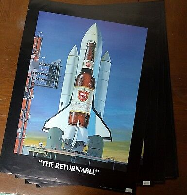 """1984 Lone Star Space Shuttle The Returnable - 17 x 22"""" NASA Space Decor"""