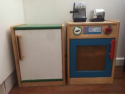 Wooden play kitchen toy pretend - lots of extras