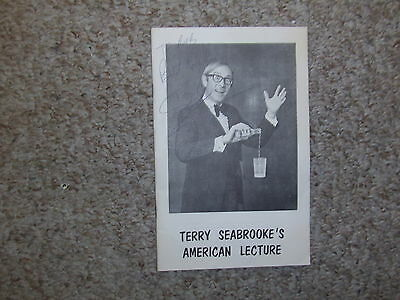 Terry Seabrook American Lecture Notes SIGNED