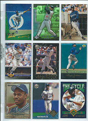 Lot Of Over 370 Different Ken Griffey Jr Baseball Cards...rookies Inserts Etc