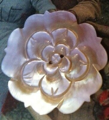 """A Vintage Carved Mother of Pearl MOP ROSE Button Stunning  1.5"""" Other Styles Too"""
