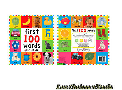 Baby Book Board Educational First 100 Words Toddler Pictures Learn Toy Gift Kids